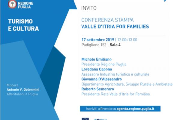 Presentazione del progetto Valle d'Itria for Families
